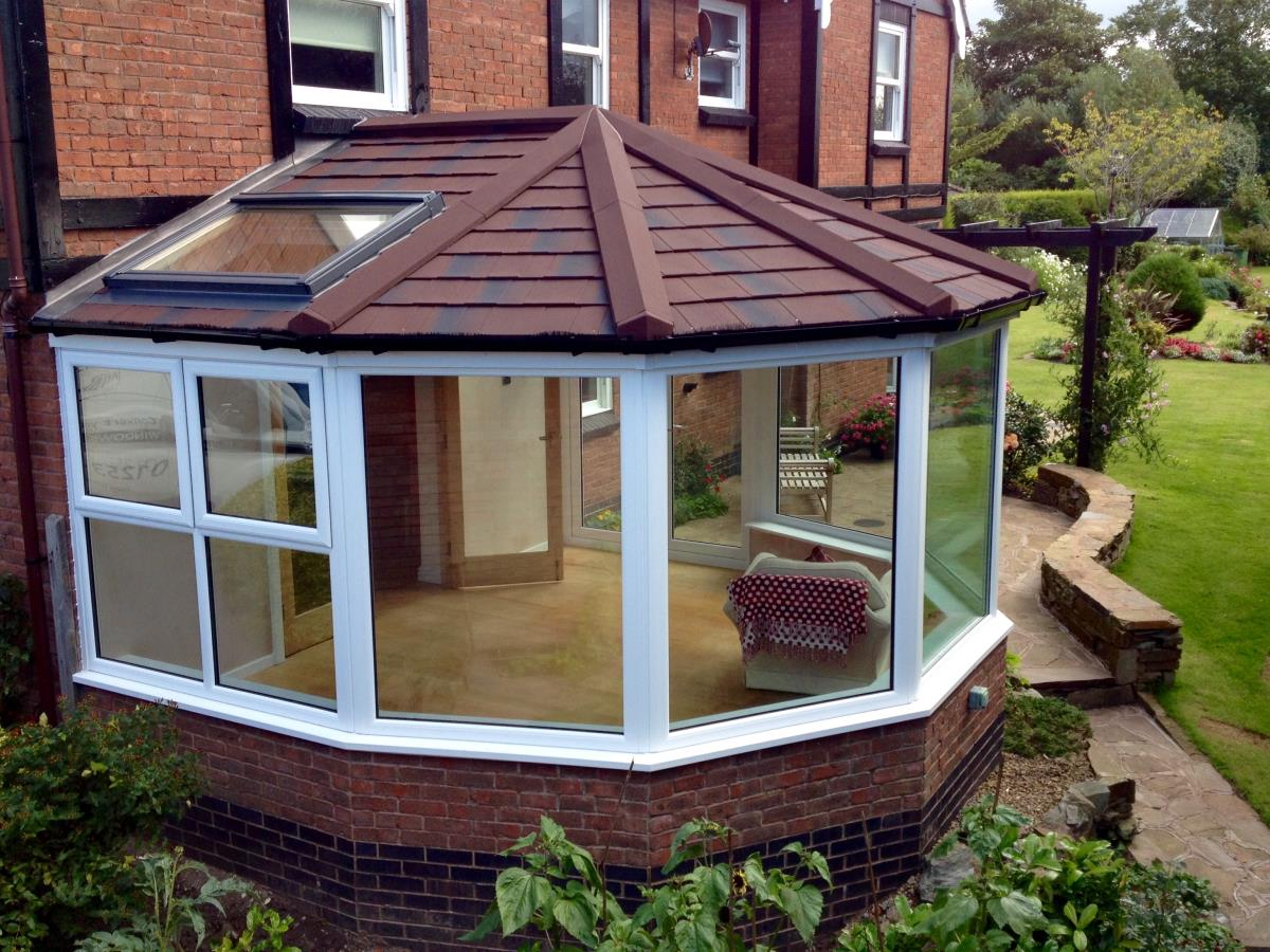 Solid roof replacement to create a seven sided garden room for a Cleveleys customer.